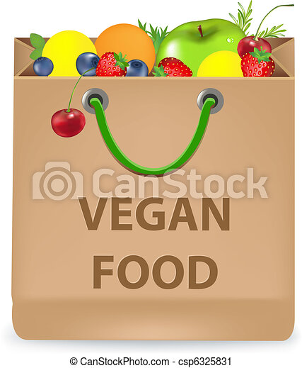 Paper Package With Vegan Products - csp6325831