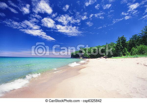 Chapel Beach - Michigan UP - csp6325842
