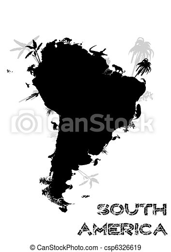 south america continent - csp6326619