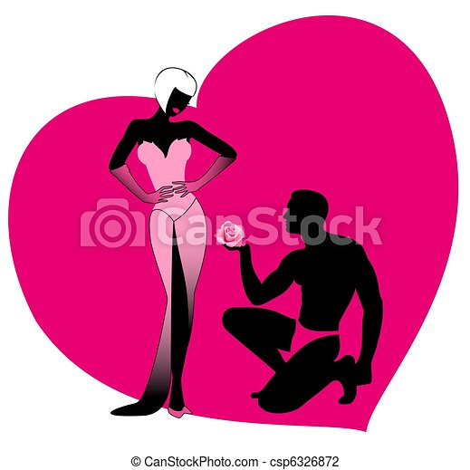 Clip Art of Silhouettes of lovers csp6326872 - Search Clipart ...