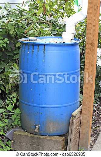 Old Blue Cistern - csp6326905