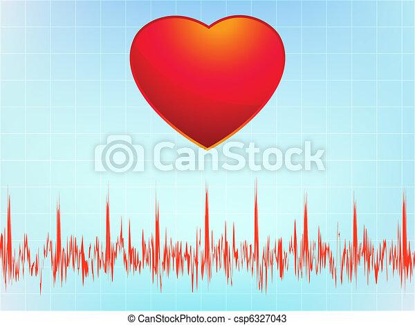Heart attack electrocardiogram-ecg. EPS 8 - csp6327043