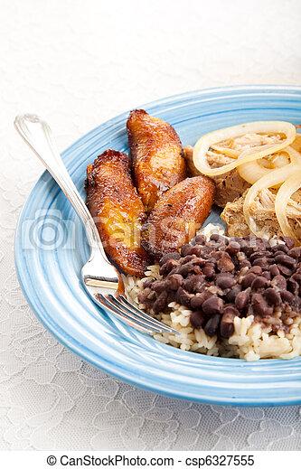 Traditional Cuban Meal - csp6327555
