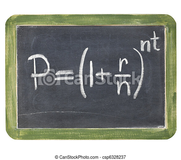 compound interest equation - csp6328237