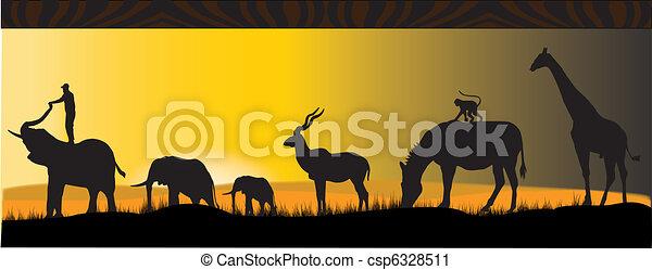 african animals - csp6328511