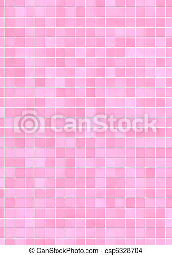 Drawing Of Pink Mosaic Tiles Bathroom Wall With Pink