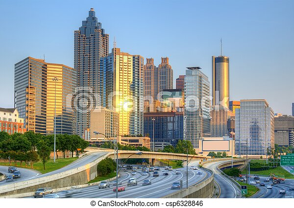 skyline of atlanta georgia - csp6328846