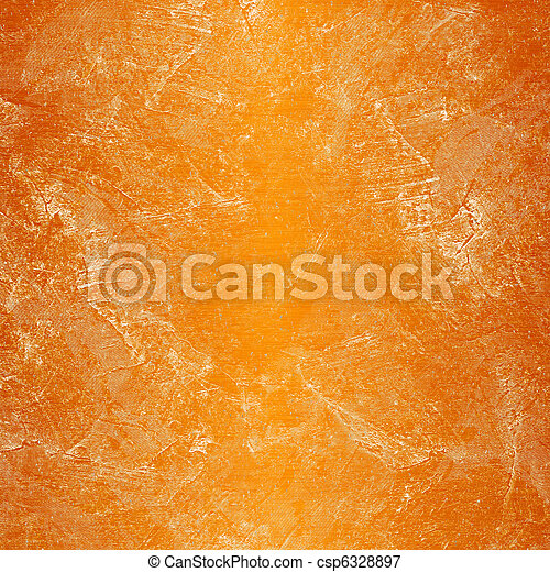 Stained orange plaster wall with rust - csp6328897