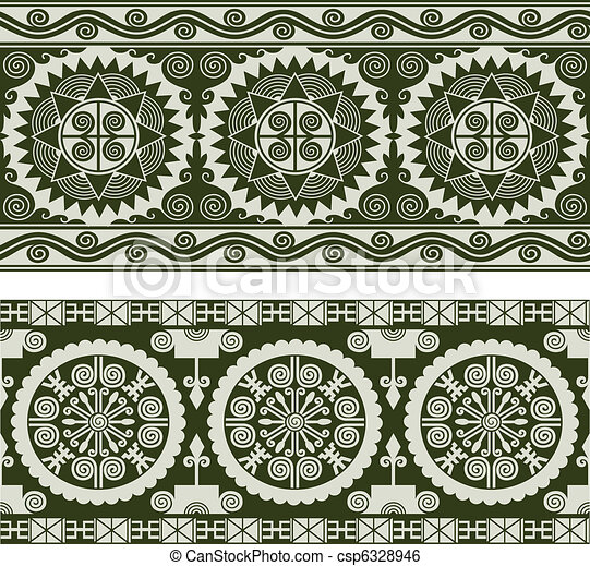 abstract seamless scroll pattern - csp6328946