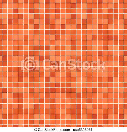 Stock de fotograf a de naranja mosaico azulejos - Azulejo mosaico bano ...