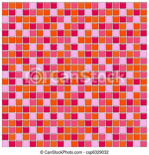 stock de ilustraciones rosa vidrio azulejos rojo naranja