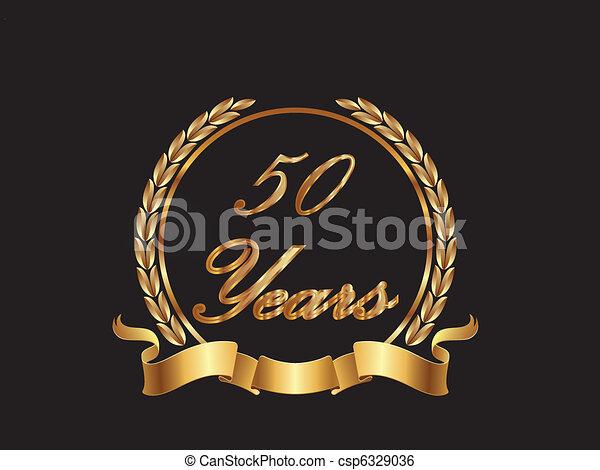 50 Years - csp6329036