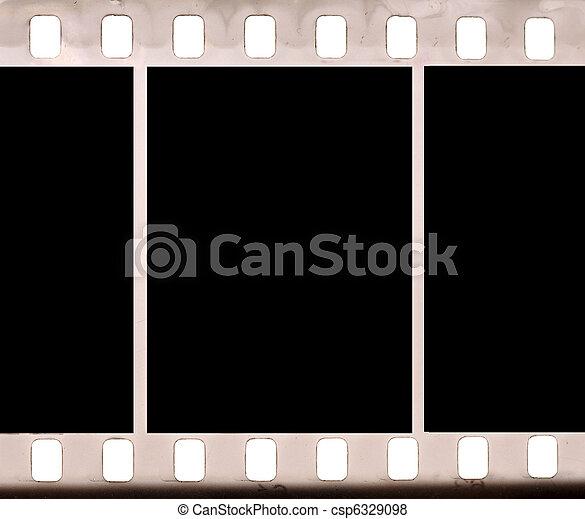 negative picture film frame  - csp6329098