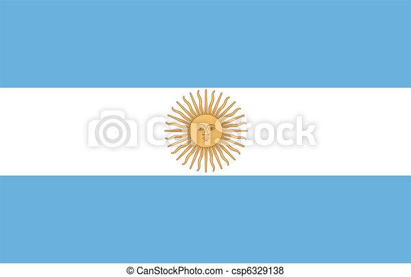 flag of Argentina - csp6329138