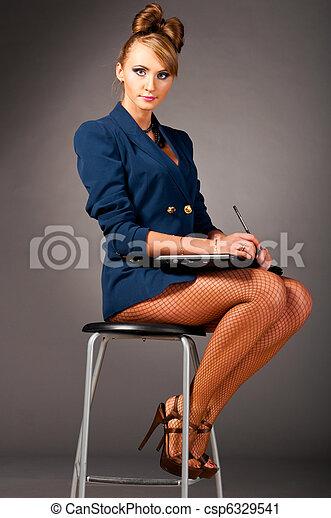 woman at office - csp6329541