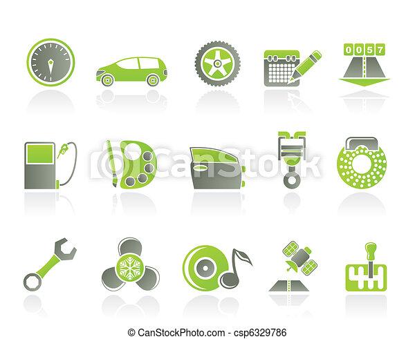 car parts, services, characteristic - csp6329786