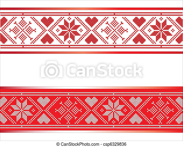 Scandinavian Ribbon - csp6329836