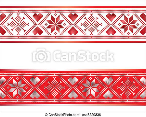 Scandinavian Ribbon - csp6329836