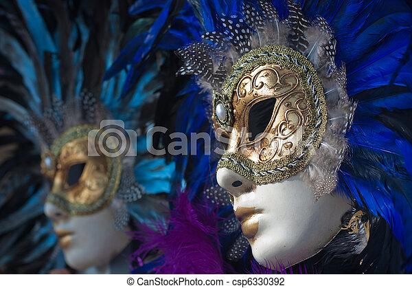 carnival masks in venice - csp6330392