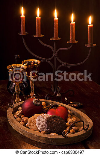 Christmas Decoration with Candlelight Holder - csp6330497
