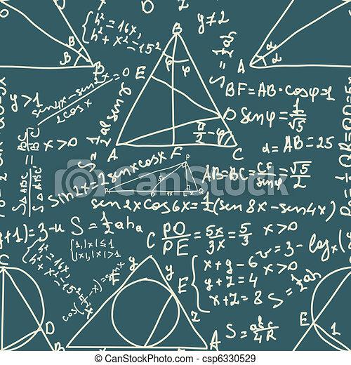 Math and trigonometrical Formulas. EPS 8 - csp6330529