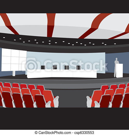Conference hall vector illustration - csp6330553