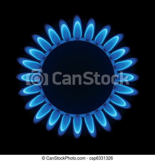 Gas flame on a hob - csp6331326