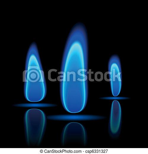 Gas flame - csp6331327