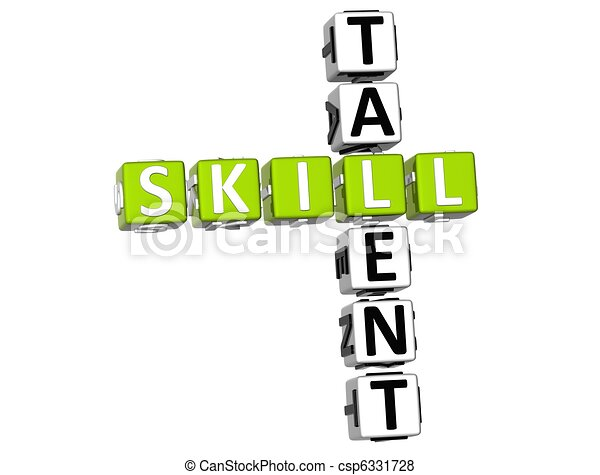 Skill Talent Crossword - csp6331728