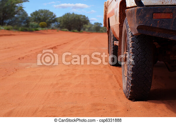 4WD on Sandy Outback Track - csp6331888