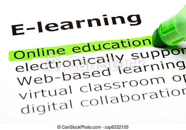 教育, オンラインで - csp6332105
