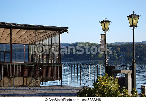 Dock on the lake - csp6332348