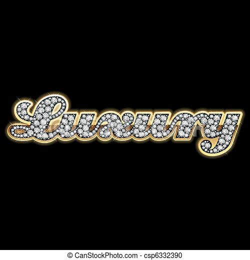 Bling-bling. Luxury. - csp6332390
