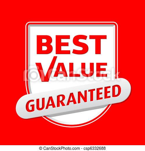 Best Value sign - csp6332688