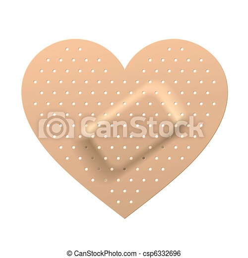 Plaster in shape of heart - csp6332696