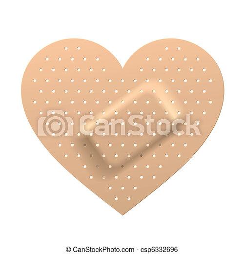 Plaster in shape of heart - csp6332696