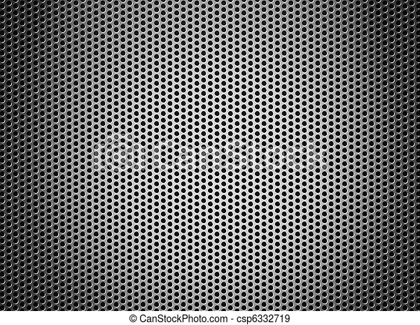 silver metal grate background - csp6332719