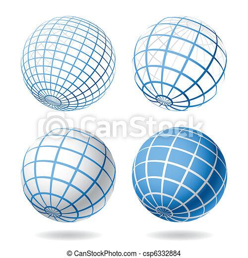 Globe design elements - csp6332884