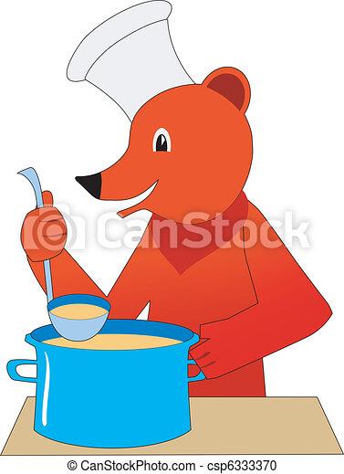bear cooker - csp6333370