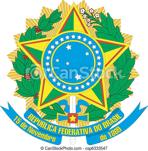 coat of arms of Brazil - csp6333547