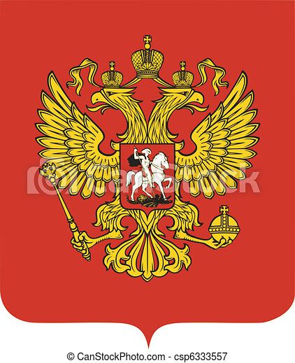 national emblem of Russia - csp6333557