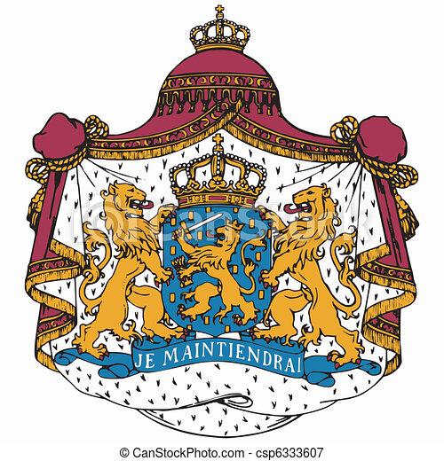 national emblem of Netherlands - csp6333607