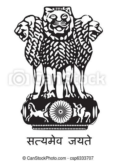 National Emblem of India - csp6333707