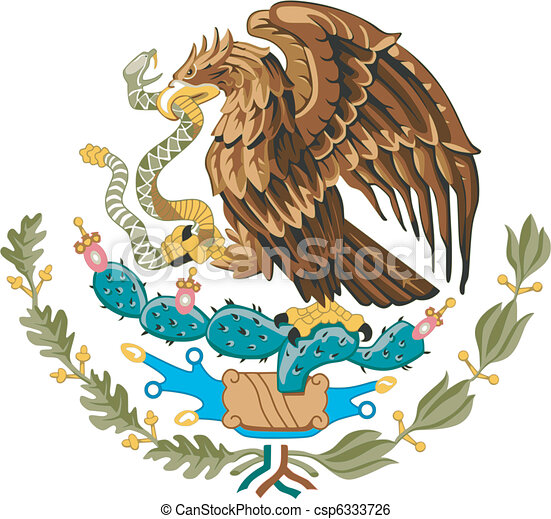 coat of arms of Mexico - csp6333726