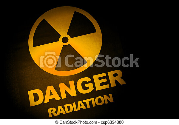 Radiation hazard sign  - csp6334380