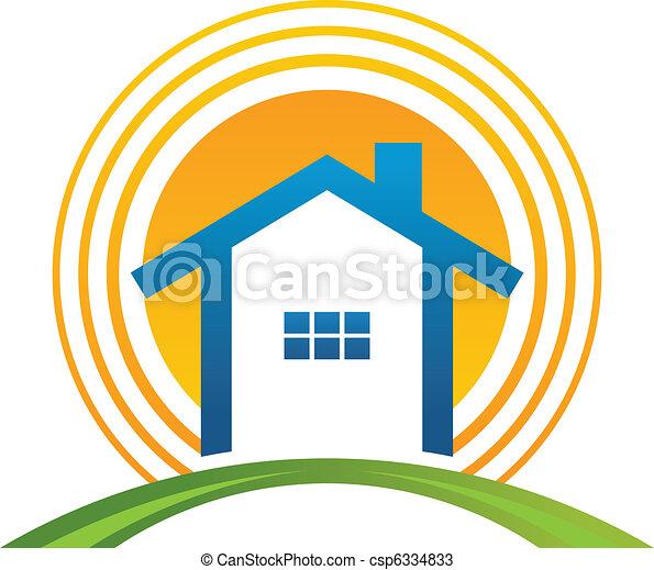 House with sun - csp6334833