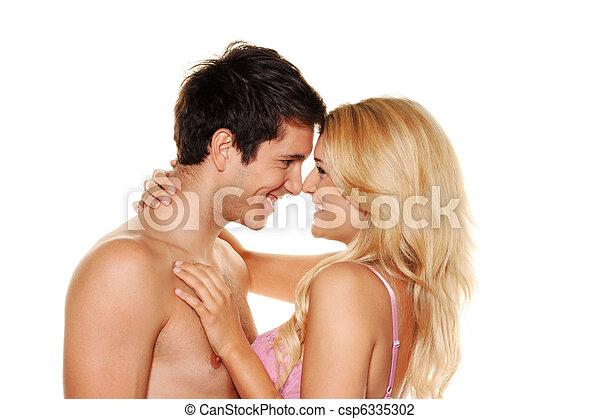 Couple has fun. - csp6335302