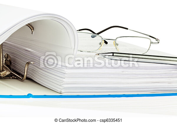 File folder with documents and documents - csp6335451