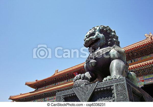Forbidden City, Beijing, China - csp6336231