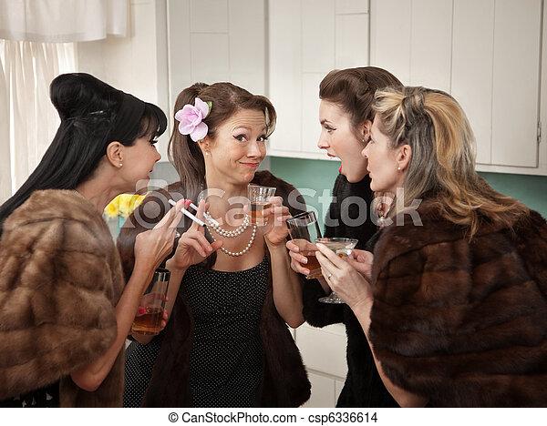 Women Joking and Smoking - csp6336614